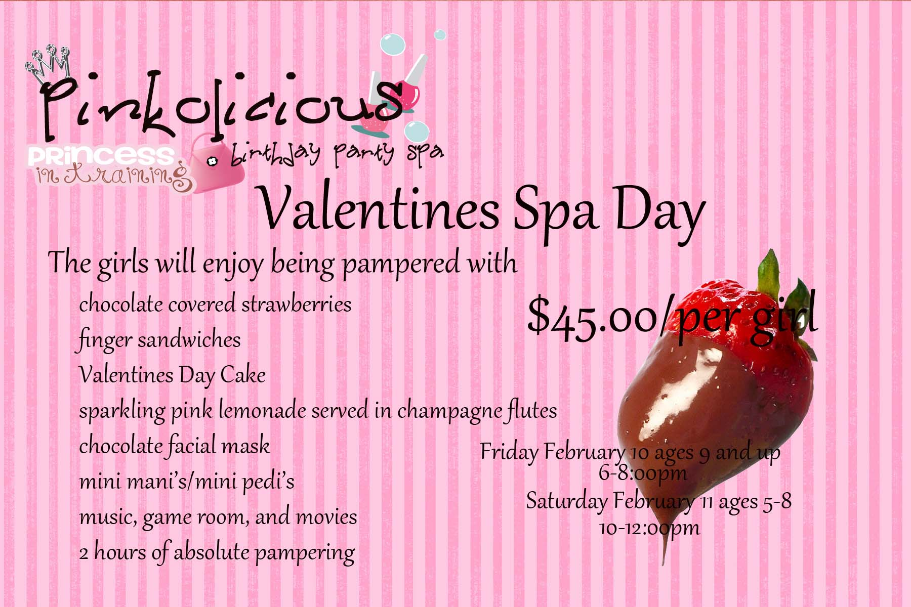 We Re Having A Valentines Spa Day Pinkolicious Birthday Party Spa